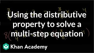 Solving equations with the distributive property 2