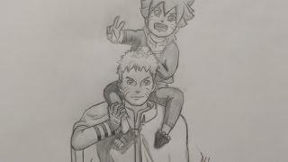 ציור של Naruto ו Boruto