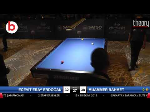 ECEVİT ERAY ERDOĞAN & MUAMMER RAHMET Bilardo Maçı - 2019 TÜRKİYE ŞAMPİYONASI 2.ETAP-ELEME