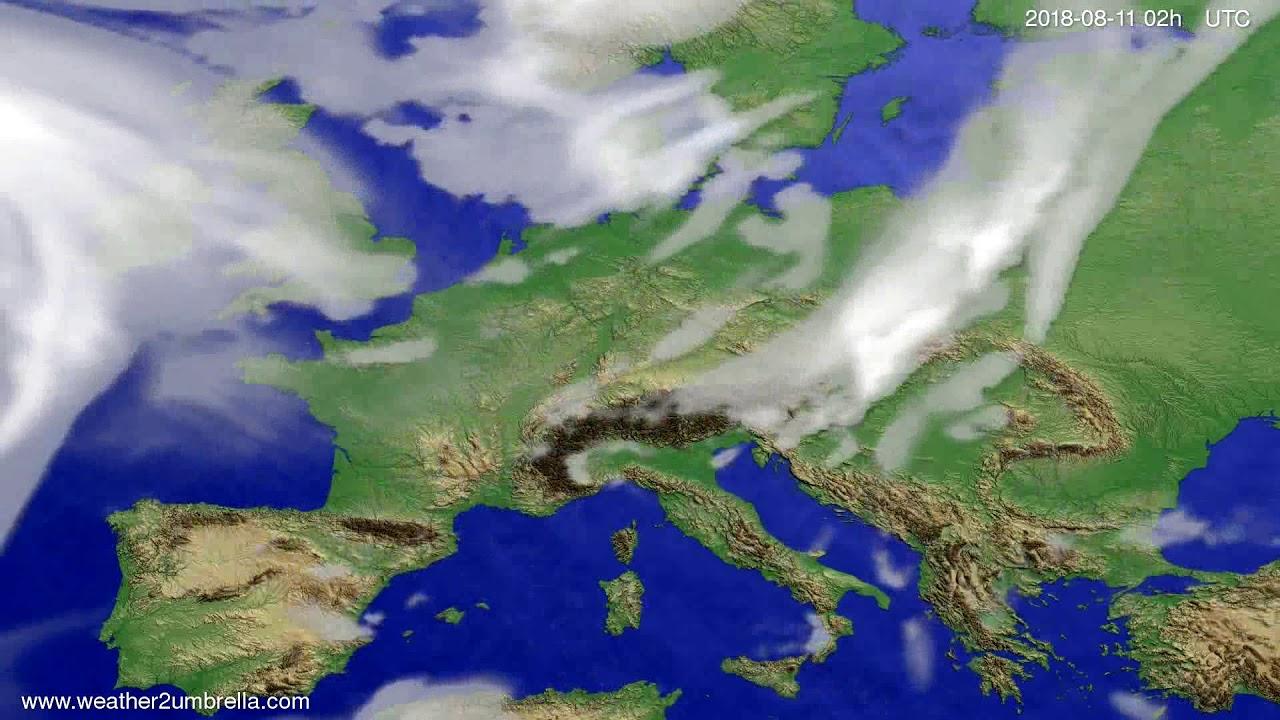 Cloud forecast Europe 2018-08-07