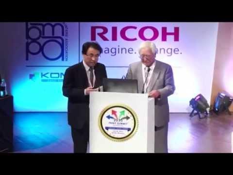 Print Summit 2015 : Yoshiharu Komori Chairman and CEO Komori Corporation at Print Summit 2015