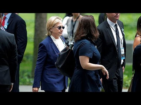 ΗΠΑ: Αδιαθεσία κατά την τελετή για την 11η Σεπτεμβρίου ένιωσε η Χίλαρι Κλίντον
