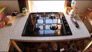 Печка, полы, и плита на кухне // Работы в доме #4