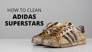 How To Clean DESTROYED Adidas Superstars With Reshoevn8r