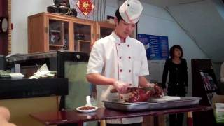 preview picture of video 'Peking Duck in Beijing China'