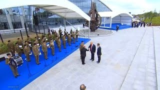 President Trump attends in the  welcoming ceremony NATO summit in Brussels, Belgium  July 11, 2018