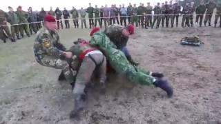 Рукопашный бой спецназа ВВ МВД России, сдача на краповый берет
