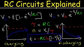 RC Circuits Physics Problems, Time Constant Explained, Capacitor Charging and Discharging