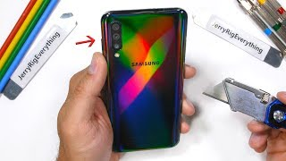 Samsung Galaxy A50 Durability Test - is the Plastic Samsung Phone durable?