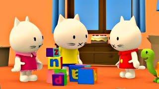Мультики для малышей - Котёнок Мусти все серии подряд - развивающие мультики для детей
