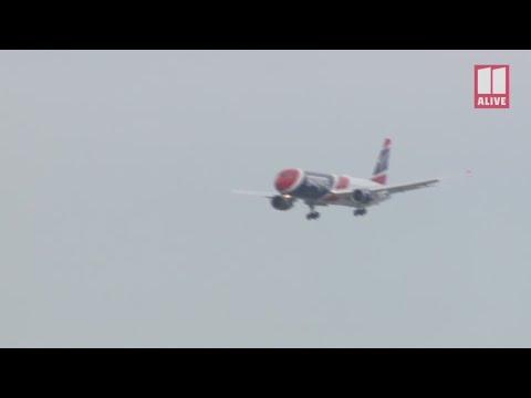 Patriots arrive at Atlanta airport ahead of Super Bowl 53 - full video