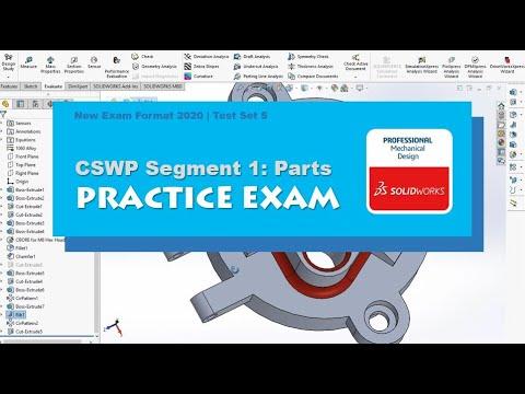 SOLIDWORKS | CSWP Segment 1 Practice Test | New Test Format ...