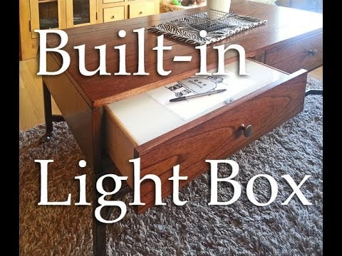 Built In Coffee Table Lightbox Hackaday