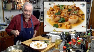 Scallops Grenobloise with Jacques Pepin
