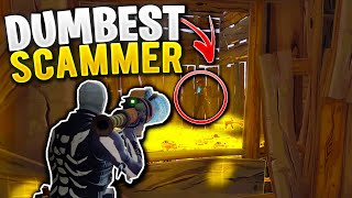 I BAITED The Dumbest Scammer For His Whole Inventory! (Scammer Gets Scammed) Fortnite Save The World