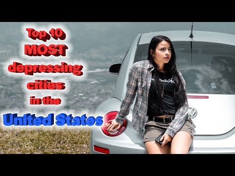 Top 10 most depressing cities in the United States (видео)