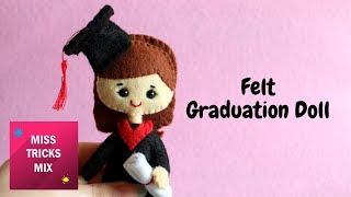 Felt Graduation Doll DIY Tutorial.
