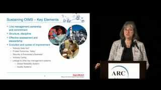 Risk Management at ExxonMobil, by Patricia Sparrell at ARC World Industry Forum 2013