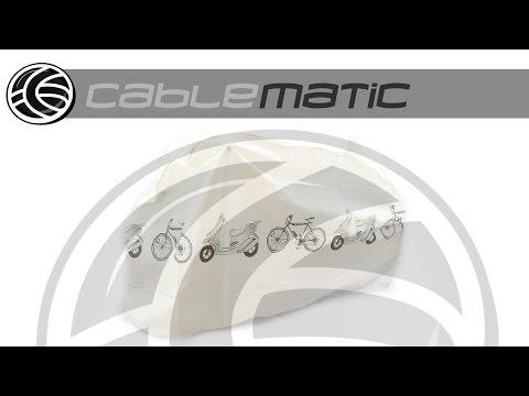 Funda cubierta protector de lluvia y polvo para bicicleta y motocicleta distribuido por CABLEMATIC ®