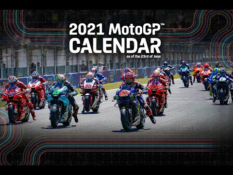 Updated 2021 #MotoGP Calendar as of 23.06.21