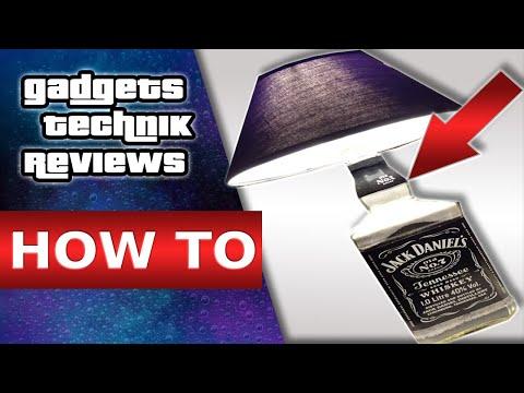 JACK DANIELS LAMPE SELBER BAUEN / DIY / HOW TO / ANLEITUNG/ FLASCHENLAMPE