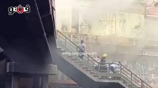 بوابة فيتو | أصحاب المحال يحاولون إخراج بضائعهم بعد حريق الموسكي