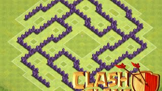 clash of clans th7 best hybrid defence base most popular videos