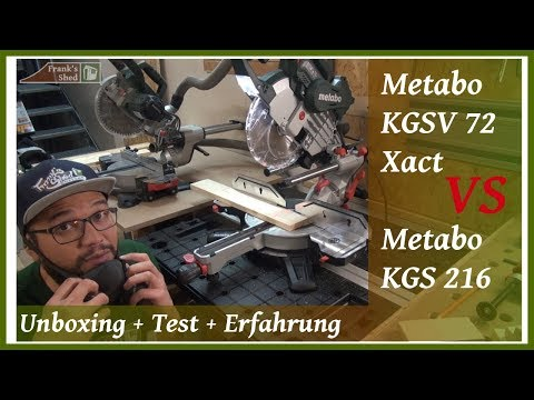 Kappsäge Metabo KGSV 72 Xact | KGS 216 M | Review + Test + Erfahrung + Unboxing | 🔥 Franks Shed 🔥