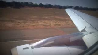 [HD] South African A319 Takeoff From Victoria Falls
