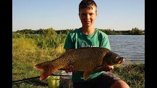 Рыбалка с ночевкой на карпа всей семьей))