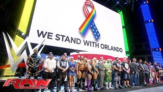 WWE stands with Orlando: Raw, June 13, 2016