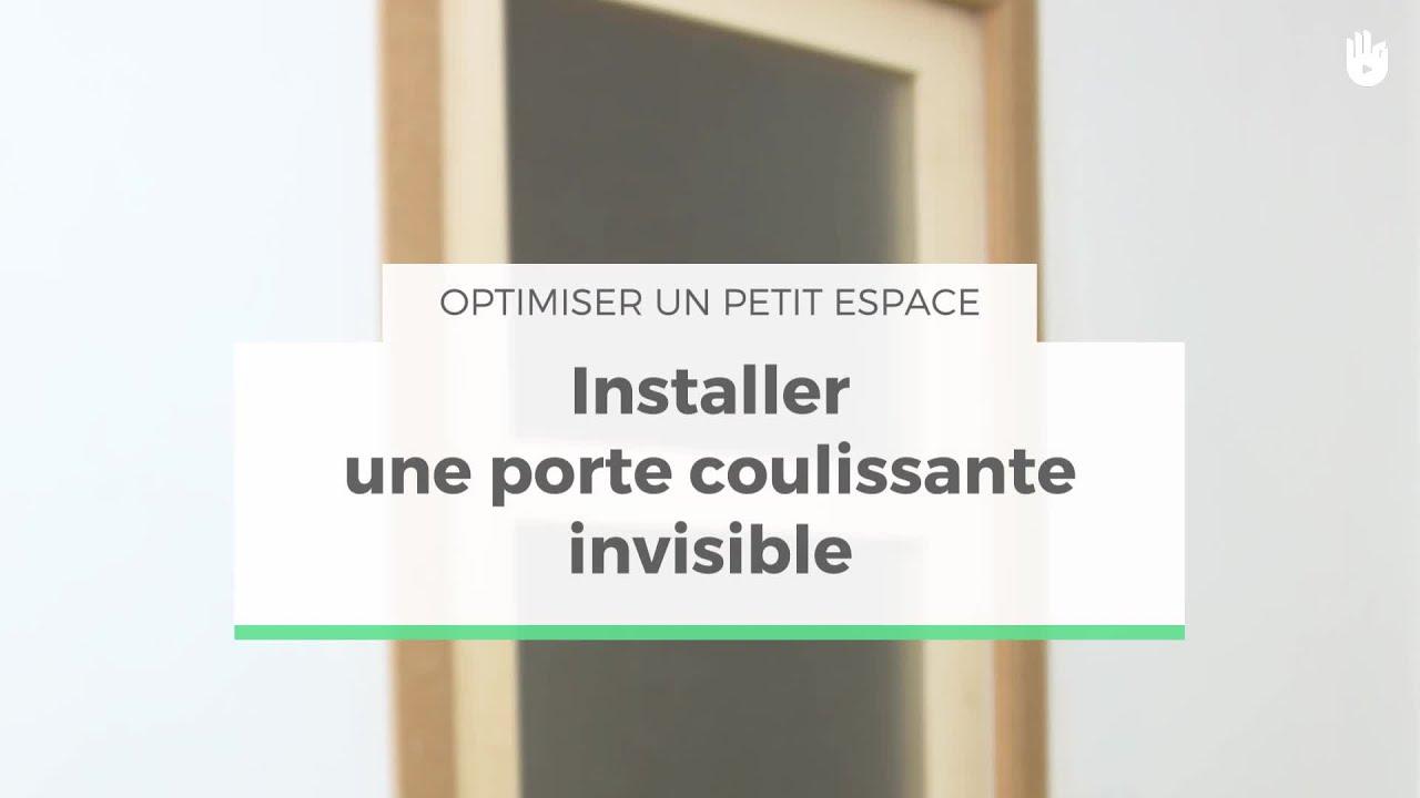 poser une porte coulissante invisible optimiser un petit espace sikana. Black Bedroom Furniture Sets. Home Design Ideas