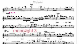 Moonlight  Kenny g 動態性樂譜 原音  王建業 設計