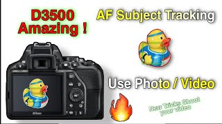 Nikon D3500 Autofocus Subject Tracking || D3500, D5300, D56000 AF Settings Guide Tutorial || Hindi