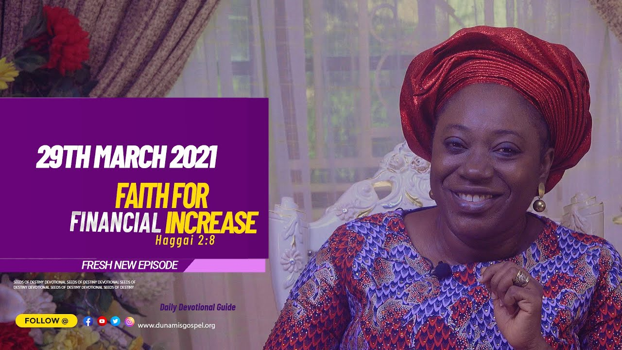SOD 29TH MARCH 2021 DEVOTIONAL GUIDE SUMMARY BY DR BECKY PAUL-ENENCHE