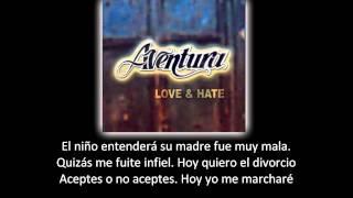 Aventura - Me voy (lyric - letra)