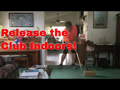 "Indoor Golf Drills - The Impact ""Push Resistance Impact"" Drill"