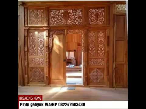Pintu gebyok minimalis modern,WA/HP 082242603439,Pintu gebyok,pintu gebyok Jepara.