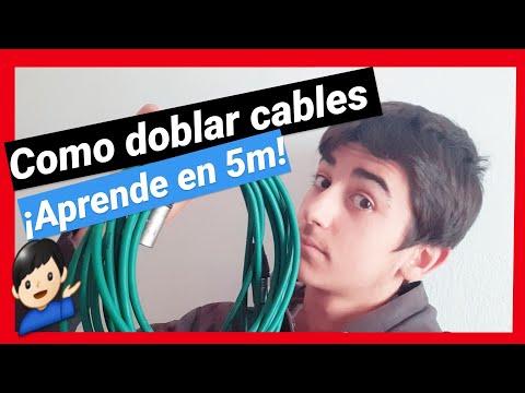 🔌👍Como doblar cables de audio | como doblar cables electricos | como ordenar cables