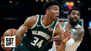 Kyrie Irving isn't on Giannis' level, got exposed in Bucks series – Jalen Rose | Get Up!