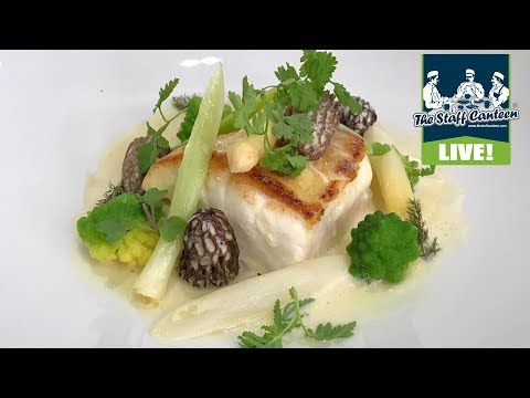 Michelin star chef John Williams cooks a fillet of turbot with baby leeks and morels recipe