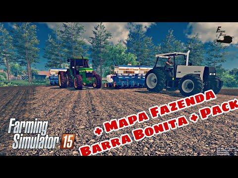 Farming Simulator 15 - Liberação do Mapa Fazenda Barra Bonita + Mod Pack