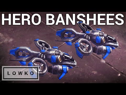 StarCraft 2: Two Hero Banshees!