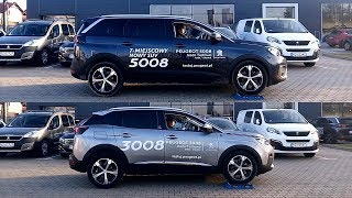 Peugeot 5008 vs 3008 - ADVANCED GRIP CONTROL (no 4WD) test on rollers
