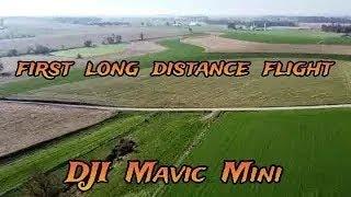 DJI MAVIC MINI DRONE - #40 - FIRST 3/4 mile flight over field !! SPORT MODE !!