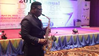 NIGERIAN BEST SAXOPHONIST OLUJAZZ  COOL TEMPER 50th ICAN ANNI     2015