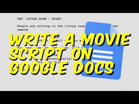 Write a movie script on google docs (free)