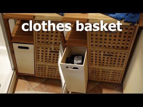 Wäschekorb aus Holz bauen!!!//ausziehbar//clothes basket