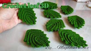 Crochet Leaf 3D@ Mengait Daun 3D