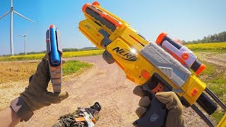 Nerf War First Person Shooter Gun Game (FPS) - Enemy Wind Turbine Takedown